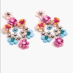 NWT J.Crew Flower Garden clip on earrings
